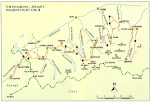 Here is the overview map from the guidebook