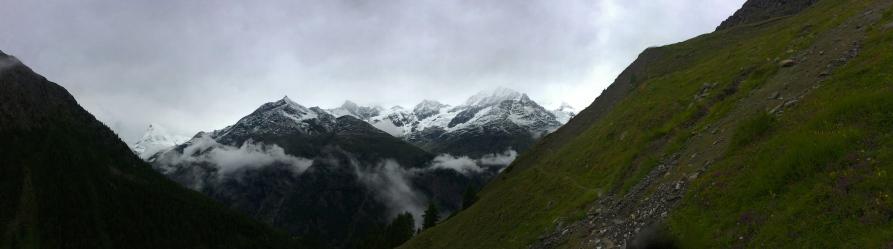 The Matterhorn and Weisshorn