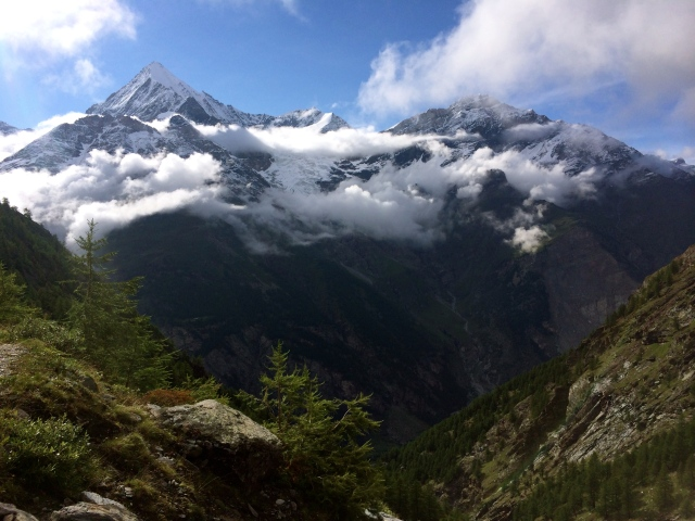 The Weisshorn with some sunshine