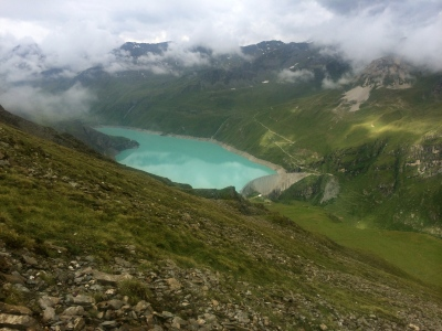 Clouds, lush tundra, cows and the Moiry