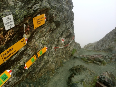Col Riedmatten - looking west down the slipper descent