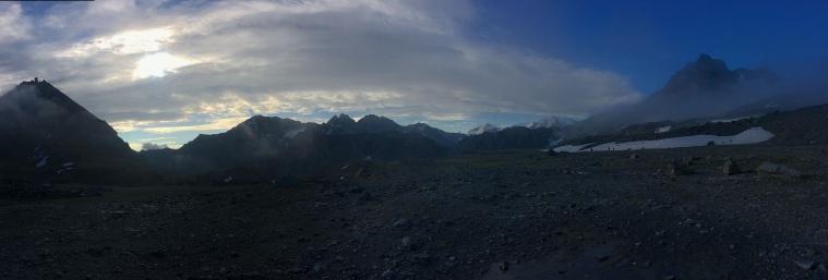 Looking southeast from Col de Prafleuri - Mont Blava, La Ruinette and La Sale