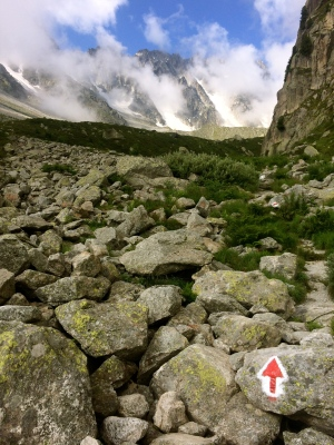 Above Arpette entering the valley