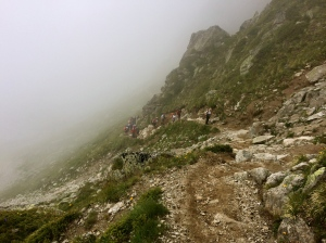 The descent with groups coming up