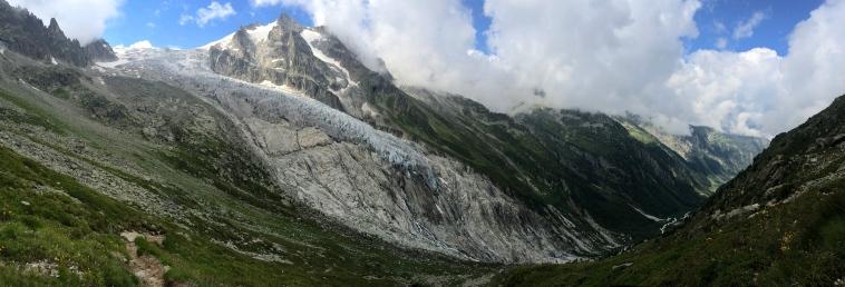 The stunning Glacier du Trient