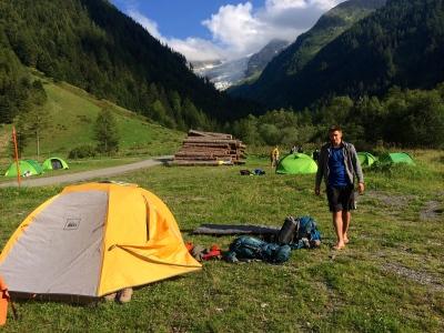 Our campsite in La Peuty