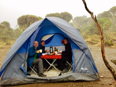 A leisurely morning in our dinning tent