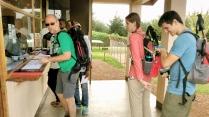 Registering at Kilamanjaro National Park